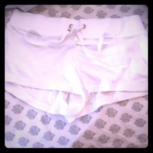 White juicy couture terry shorts